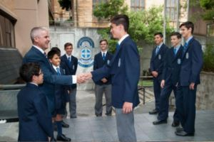 St Mary's Cathedral College Sydney students receiving and award